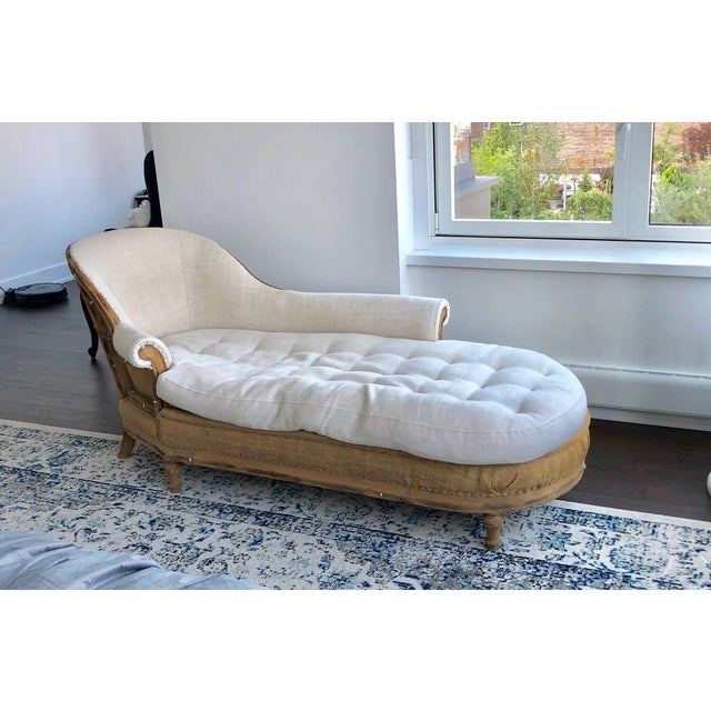 French Restoration Hardware Deconstructed French Victorian Right-Arm Chaise For Sale - Image 3 of 4