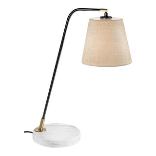 Natural Rock Base With Brass Desk Lamp For Sale