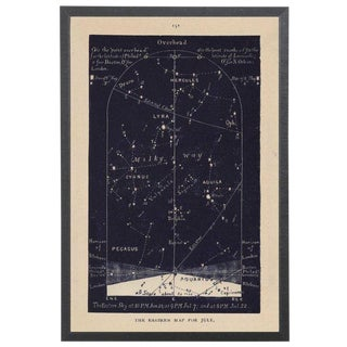 Navy Northern and Souther Star Maps in Black Shadowbox For Sale