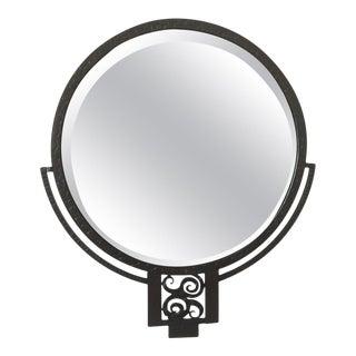 Edgar Brandt Wrought Iron Mirror For Sale