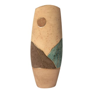 1980s Vintage Southwestern Ceramic Vase For Sale