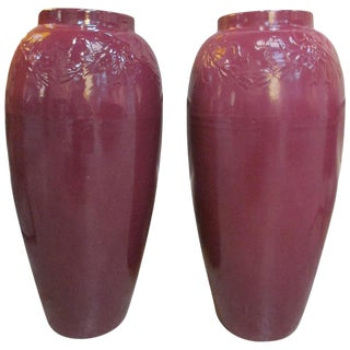 Pair of 1950s Ceramic Jardinieres For Sale
