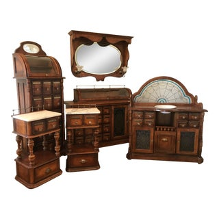 Vintage Pulaski Apothecary Bedroom Set, 7 Pieces For Sale