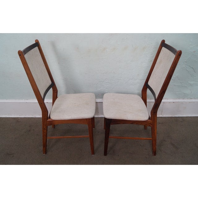Danish Modern Rosewood Side Chairs - A Pair - Image 3 of 10