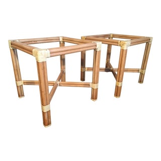 Rattan Dining Table Base by Kipp Stewart for Summit Furniture For Sale