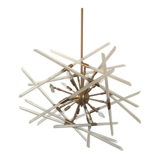 Aidan Gray Sputnik Style Brass Solitude Chandelier For Sale