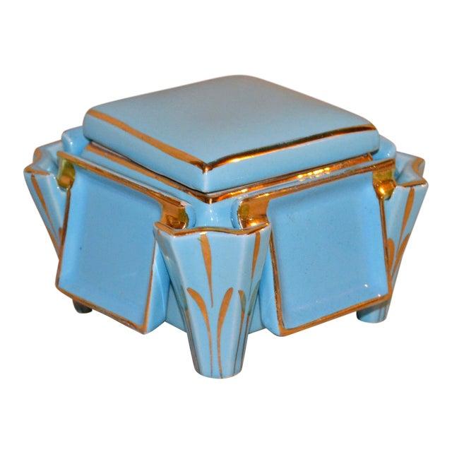 Canonsburg China Art Deco Cigarette Box For Sale
