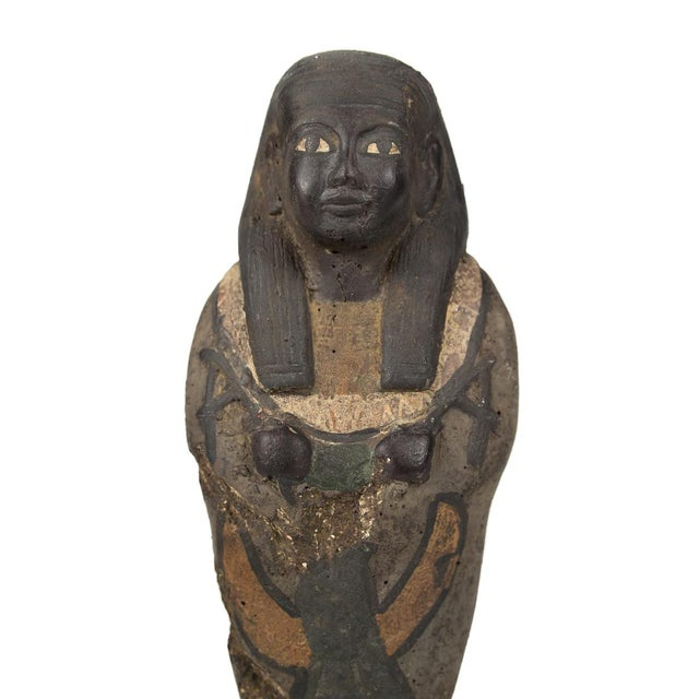 Antique Egyptian Carved Stone Pharaoh Figurine For Sale - Image 4 of 9