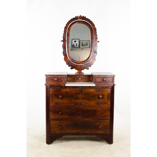 19th Century Victorian Drop Well Marble Top Dresser For Sale - Image 13 of 13
