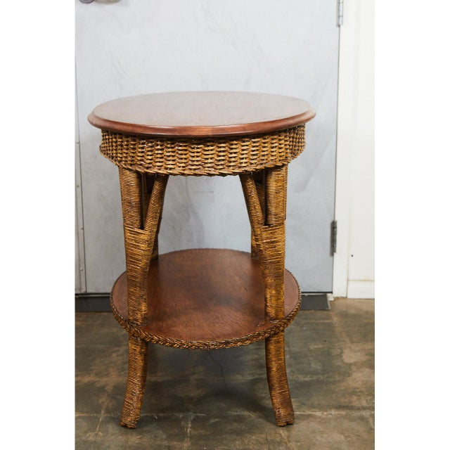 1930's Wicker Table For Sale In Los Angeles - Image 6 of 8