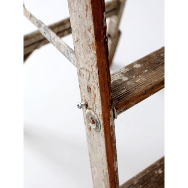 Vintage Rustic Wooden Painter's Ladder - Image 11 of 11