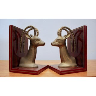 Brass Gazelle Bookends, a Pair Preview
