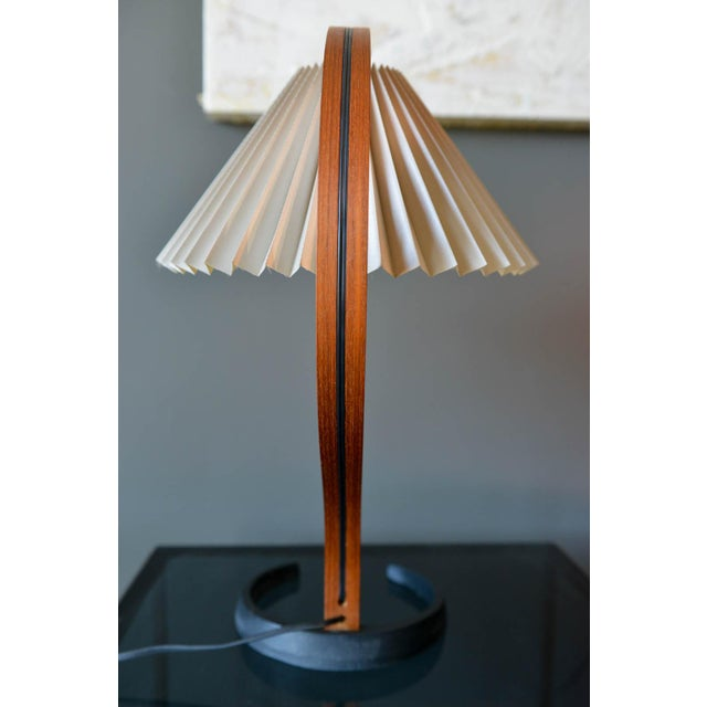 1960s Bentwood Table Lamp by Caprani Light of Denmark, Circa 1971 For Sale - Image 5 of 12
