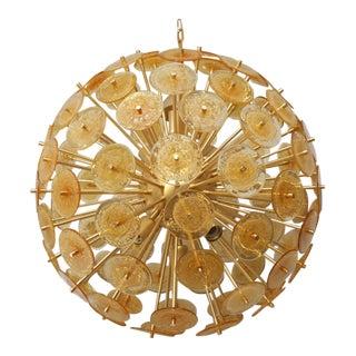 Golden Murano Mini Disc Sputnik Chandelier