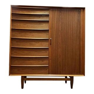 Mid-Century Modern Svend Madsen for Falster Mobelfabrik Teak Highboy Dresser For Sale