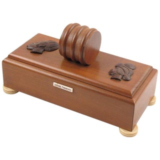 French Art Deco 1930s Africanist Orientalist Wood Decorative Box For Sale