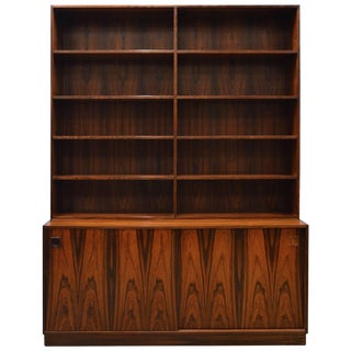 Mid-Century Modern Danish Rosewood Bookcase For Sale
