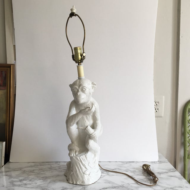 Vintage Ceramic Monkey Lamp - Image 2 of 10