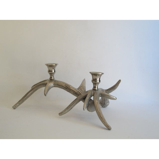 Silver-Tone Antler Candle Holder - Image 8 of 8