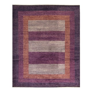 Contemporary Hand Woven Rug - 8′4″ × 10′2″ For Sale