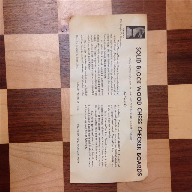 Vintage Drueke & Sons Chess Set in Walnut For Sale - Image 7 of 8
