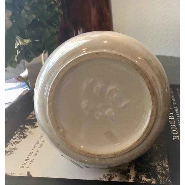McCoy Pottery Mother of Pearl/Opal Glaze Cascade Vase For Sale In Dallas - Image 6 of 7