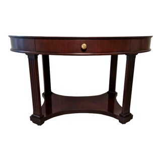 Baker Furniture Oval Console Table For Sale