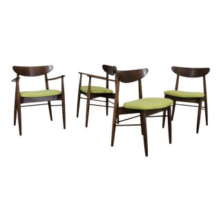 Set of 4 Mid-Century Modern H Paul Browning Shell Back Dining Chairs For Sale