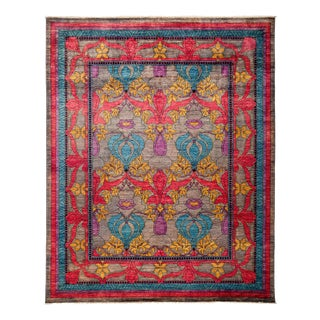 """Arts & Crafts Hand Knotted Area Rug - 8' 1"""" X 9' 10"""" For Sale"""