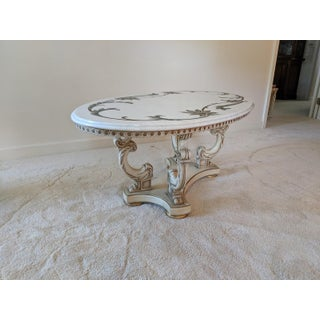 1960's French Provincial Louis XV Marble Top Cocktail / CoffeeTable Preview