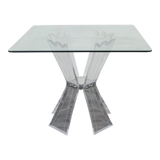 Vintage Lucite Butterfly Dining Table For Sale