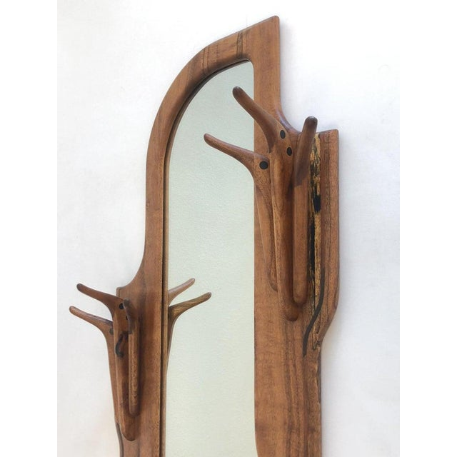 Studio Walnut Mirror by Charles B. Cobb For Sale In Palm Springs - Image 6 of 10