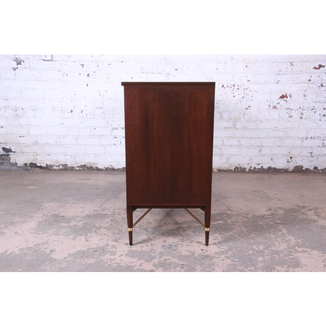 Paul McCobb Calvin Group Mahogany and Brass Credenza For Sale - Image 10 of 13