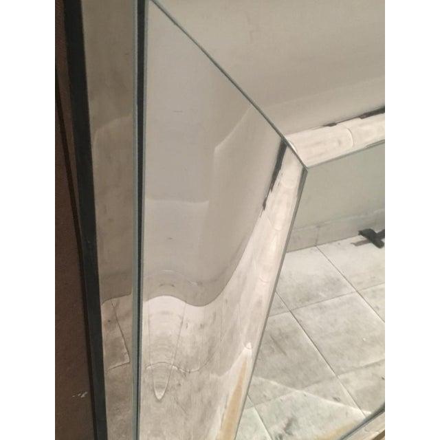 Andre Hayat rectangular curved silver mercury frame mirror.