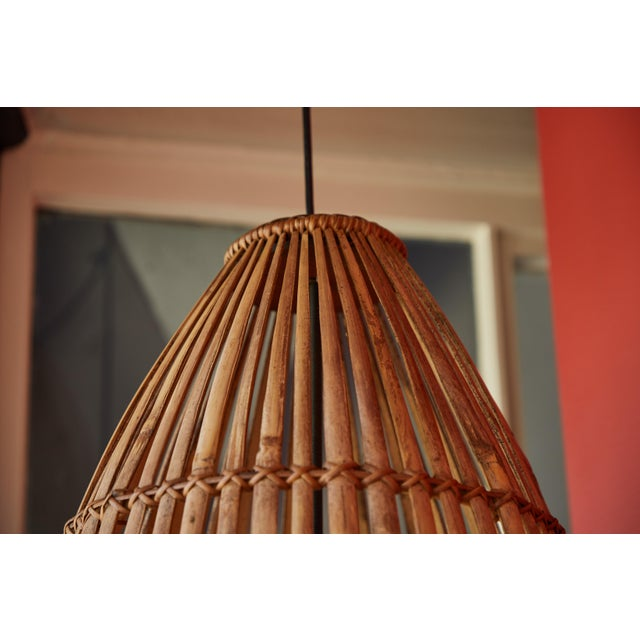 Rattan Hanging Pendant Lamp For Sale - Image 4 of 9