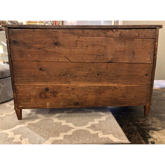 Brown Louis XVI Period Chest of Drawers For Sale - Image 8 of 9