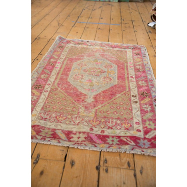 "Old New House Vintage Distressed Oushak Rug - 2'9"" X 3'11"" For Sale - Image 4 of 9"