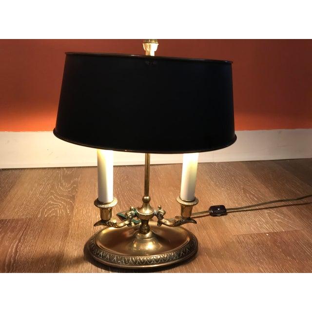 1960s Brass Bouillotte Lamp For Sale In Kansas City - Image 6 of 7