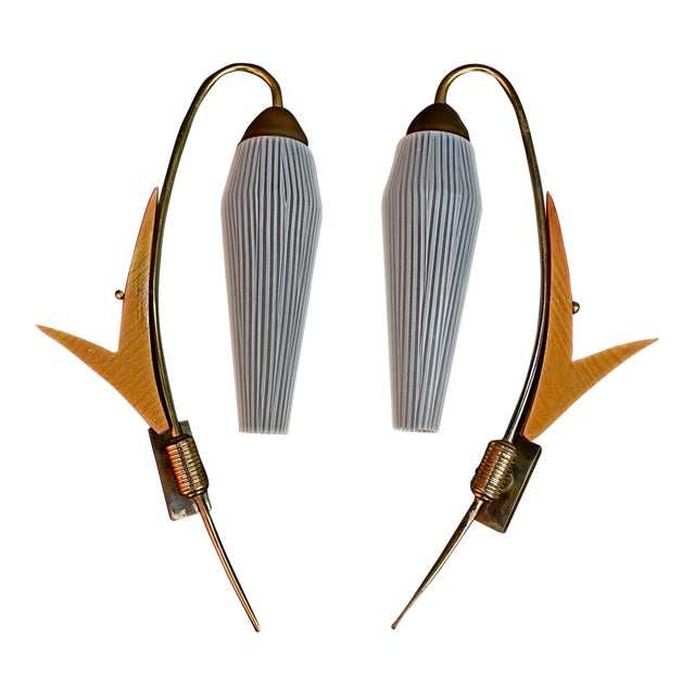 French Mid Century Sconces - A Pair For Sale