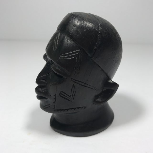 Antique Carved Wooden Head - Image 11 of 11