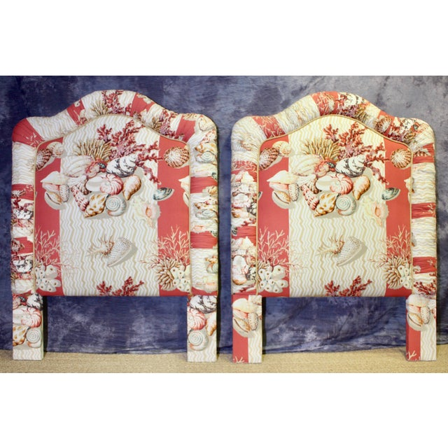 Textile Nautical Twin Size Headboards - a Pair For Sale - Image 7 of 7