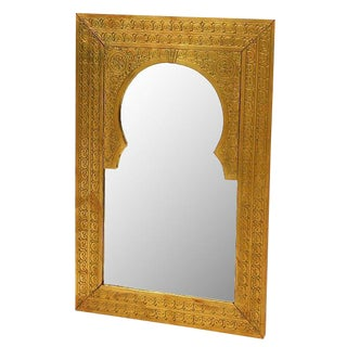Brass Antique Door Mirror
