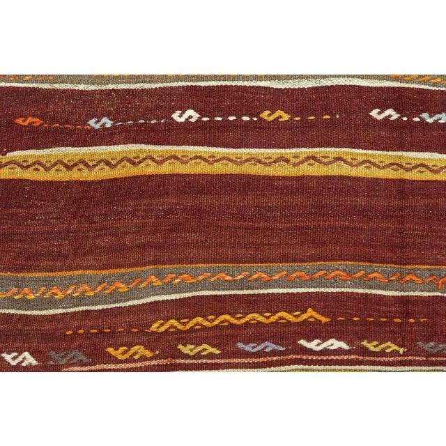 Anatolian Kilim Tribal Turkish Kilim Rug-4′8″ × 6′1″ For Sale - Image 10 of 13