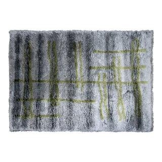 "Nalbandian - Contemporary Turkish Shag Carpet - 5'6"" X 7'11"" For Sale"