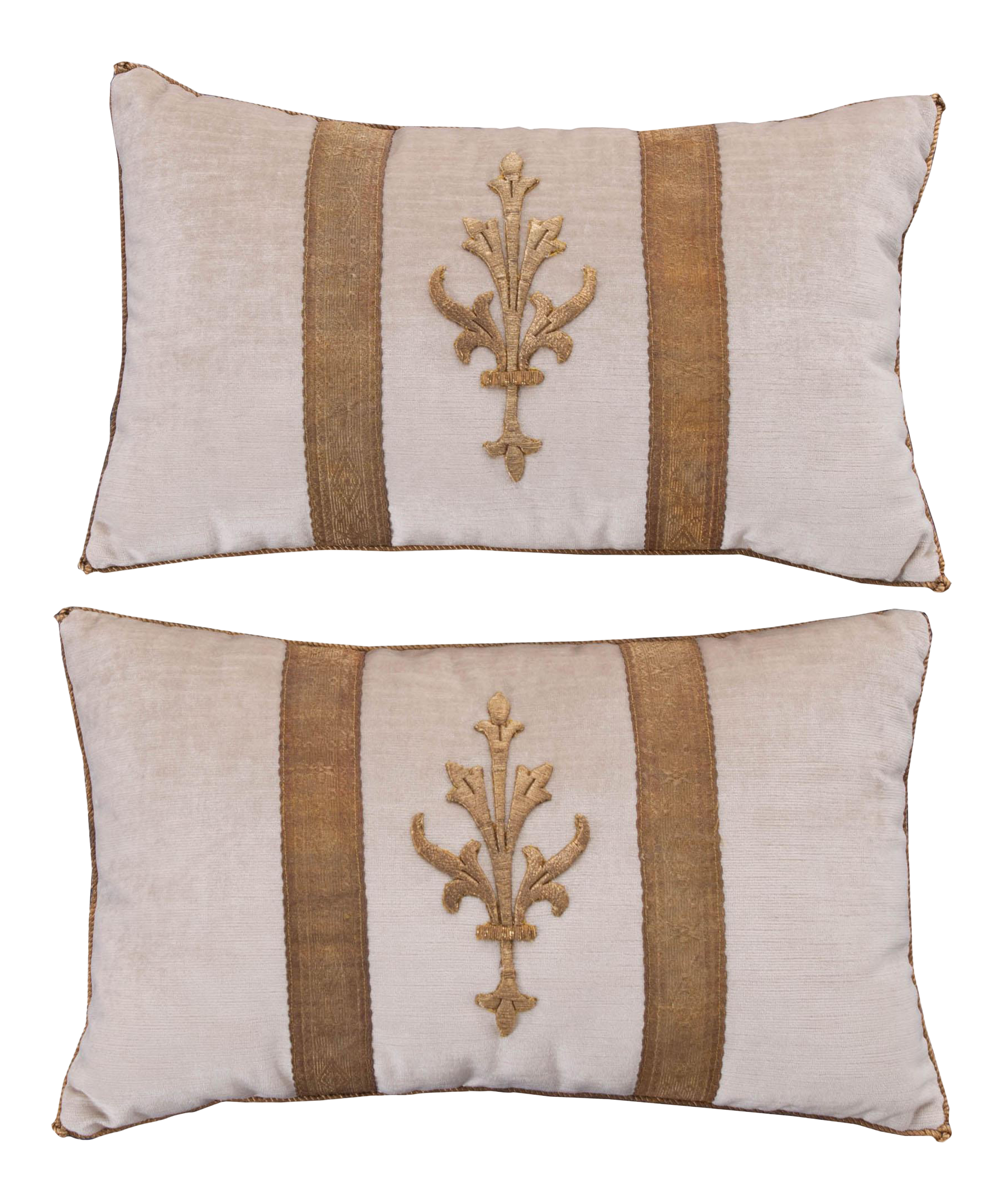 indian antique french cushions. Antique Textile Pillows By B.Viz Designs - A Pair Indian French Cushions