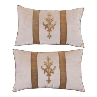 Antique Textile Pillows By B.Viz Designs - A Pair