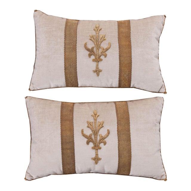 Antique Textile Pillows By B.Viz Designs - A Pair - Image 1 of 5