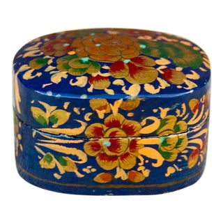 Phulkari Hand Painted KashmiriBox For Sale