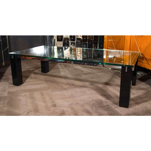 Chrome Crespi Italian Mid-Century Modern Architectural Coffee Table For Sale - Image 7 of 11