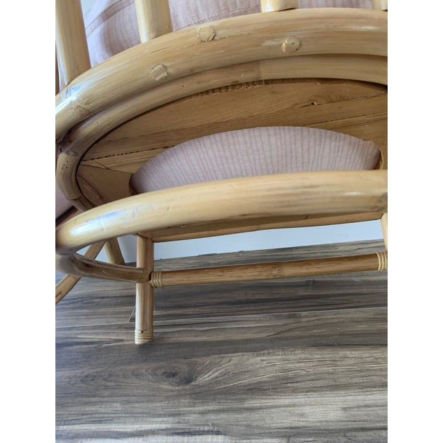 Bamboo and Chrome Lounge Chairs- A Pair For Sale In Miami - Image 6 of 12